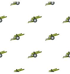 Artillery gun pattern flat vector
