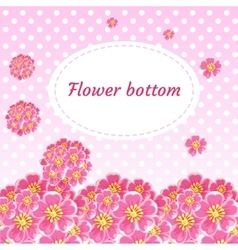 Background with flower buds and bouquets of cherry vector image