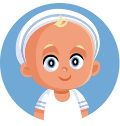 bawearing cute sailor outfit icon vector image