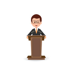 businessman standing to speaking and presentation vector image