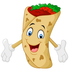 Cartoon burrito vector