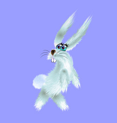 cartoon of arctic white hare vector image