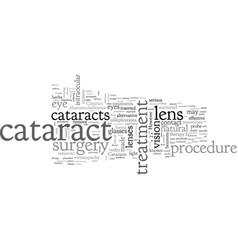 Cataract treatment vector