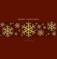 christmas backgrounds with gold snowflakes vector image