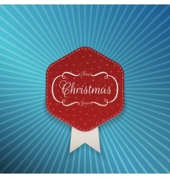 Christmas realistic red Emblem Template vector image vector image