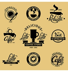 Coffee set 4 vector