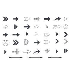 collection arrows and icon symbols vector image