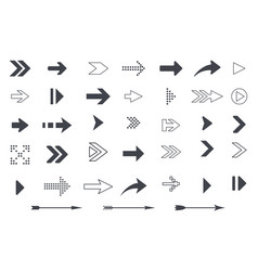 collection of arrows and icon symbols vector image