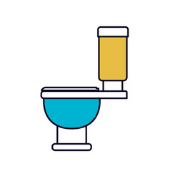 Color sections silhouette of toilet icon side view vector