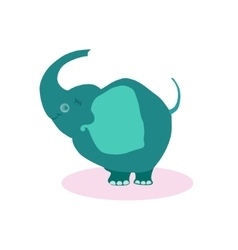 Cute Cartoon Elephant Flat vector image