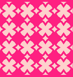 cute pink abstract geometric girls floral pattern vector image