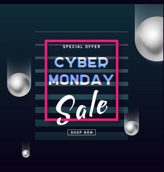cyber monday media concept banner business offer vector image