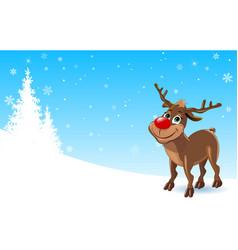 deer in the winter vector image