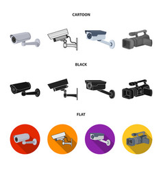 Design camcorder and camera sign set of vector