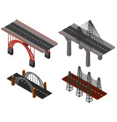 different designs of bridges vector image