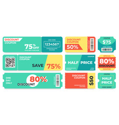 discount coupon half price offer promo code gift vector image