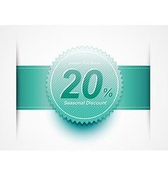 discount sale label vector image vector image