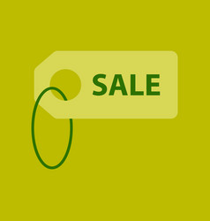 flat icon of sale label vector image