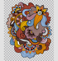 flower tattoo on transparent background vector image
