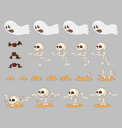 Ghost enemies game sprites vector