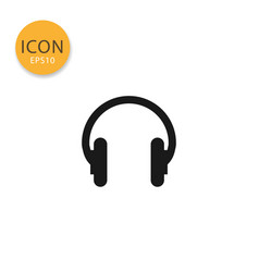 headphone icon isolated flat style vector image