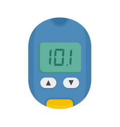 Home glucometer icon flat style vector