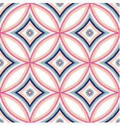 Intricate mandala blue background vector