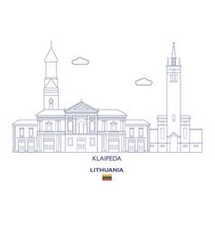 klaipeda city skyline vector image