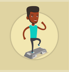 man exercising on steeper vector image