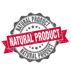 Natural product stamp sign seal vector