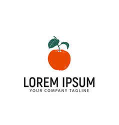 orange fruit logo design concept template vector image
