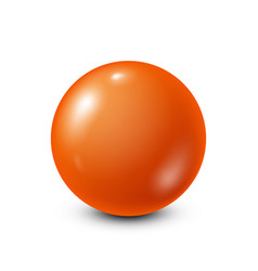 Orange lottery billiardpool ball snooker white vector