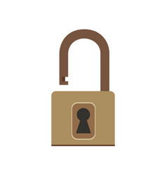 Padlock icon lock security symbol safety isolated vector
