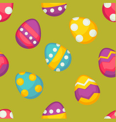 painted eggs seamless pattern easter religious vector image