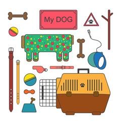Pet shop set vector
