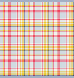 Plaid seamless pattern background of textile vector
