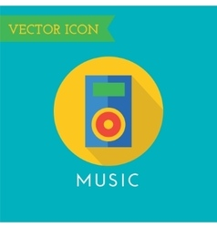 Player Icon Icon Sound tools or Dj and vector image