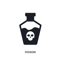 Poison isolated icon simple element from science vector