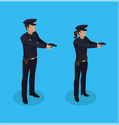 police policeman and woman vector image
