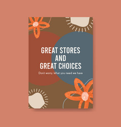 poster template with shopping design for brochure vector image