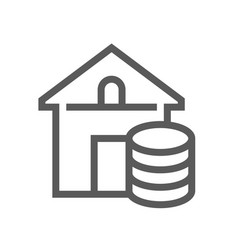 Real estate line icon vector