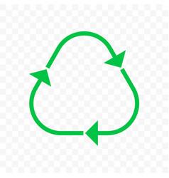 Recycling triangle arrow icon eco waste reuse bin vector