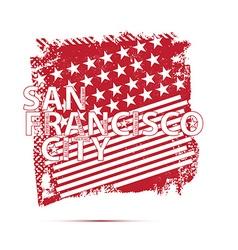 San francisco city emblem vector