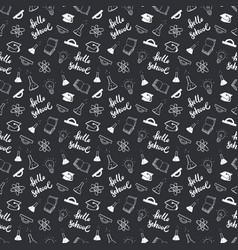 School seamless pattern hand drawn doodles vector