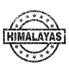 Scratched textured himalayas stamp seal vector