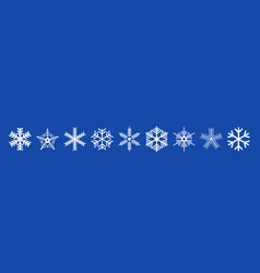 set christmas decorated snowflakes vector image