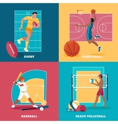 Set of Team Active Sports with Ball vector image