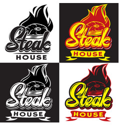 set templates for steak house vector image