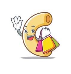 Shopping macaroni character cartoon style vector