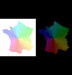 Spectral dot france map vector